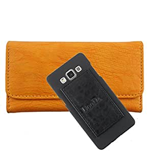 DooDa PU Leather Wallet Flip Case Cover With Card & ID Slots For Micromax Canvas Power A96