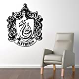 """Slytherin House Crest Hogwarts Harry Potter Decor - Wall Decal Vinyl Sticker W95 22""""x26"""" (Message for Color)"""