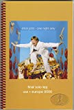 ELTON JOHN 2000 One Night Only Tour Concert Itinerary Final Solo Leg USA/Europe