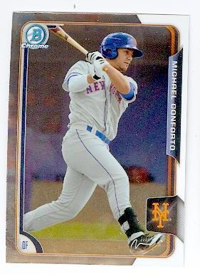 Michael Conforto baseball card (New York Mets) 2015 Topps Bowman Chrome #BCP218 Rookie