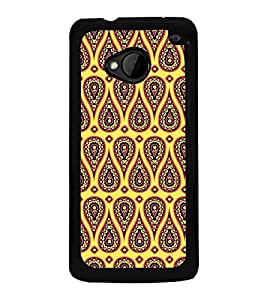 Fuson Premium Ethnic Design Metal Printed with Hard Plastic Back Case Cover for HTC One M7