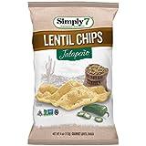 Simply7 Lentil Chips, Jalapeno, 4-Ounce bag