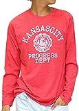 (マルカワジーンズパワージーンズバリュー) Marukawa JEANS POWER JEANS VALUE Tシャツ メンズ 長袖 ロンT カレッジプリント 8color M 柄4