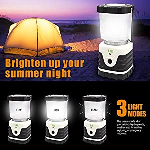 Lighting EVER LED Laterne, Ultra Hellst 300lm, Zuhause, Garten und Camping Laterne - Lighting EVER