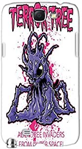 Dazzling 3D multicolor printed protective REBEL mobile back cover for Samsung Note-2 - D.No-DEZ-2438-n2
