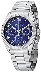 SO&CO York Men's 5009.2 Madison Analog Display Analog Quartz Silver Watch from SO&CO New York
