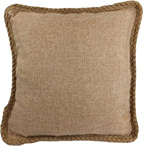 Amazon.com: Decorative Hamp Rope Piping Throw Pillow 18