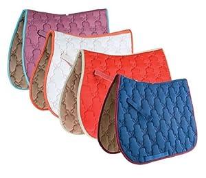 Roma Ecole Contrast Stitch Butterfly Quilt Saddle Pad-Mauve/Flint [Misc.]