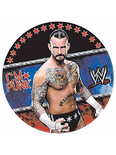 WWE Wrestling Small Paper Plates (8ct)