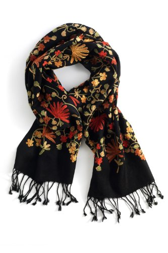 Fair Trade Wool Ari Scarf (Black)