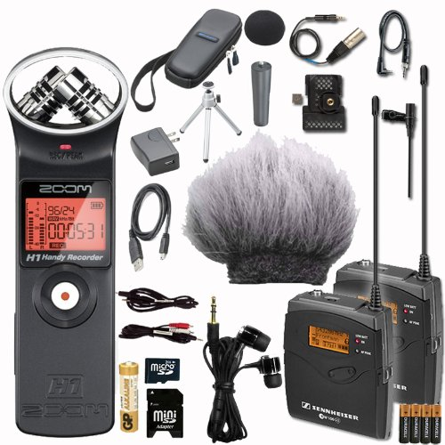 Sennheiser Ew112P G3-B Wireless Microphone Zoom H1 Eng Dslr System Bundle