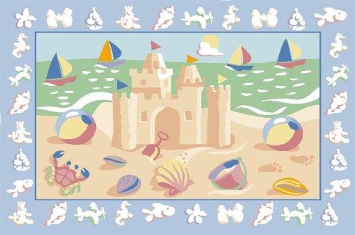 Sand Castles Rug OLIVE KIDS 39 x 58 Area Rug