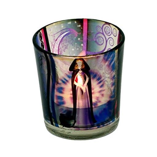 Votiv-und-Teelichtglas-6x5cm-Verschiedene-Varianten-Wicca-Elfe