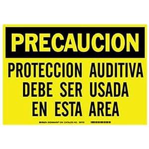 Amazon.com: Brady 37694, Spanish/Caut Heachr Prot Must Be (Pack of 20