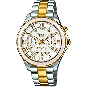 Casio SHE-3507SG-7AUER Ladies Sheen Two Tone Steel Bracelet Watch