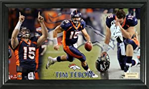 NFL Denver Broncos Tim Tebow Gridiron Ace Action Photo in a 12x20 Frame by Highland Mint