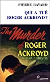 img - for qui a tu  Roger Ackroyd ? d'Agatha Christie book / textbook / text book