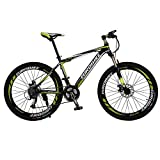 KINGTTU GTR 自転車 マウンテンバイク MTB 27.5インチマウンテンバイク アルミフレーム シマノ21段変速 ディスクブレ-キ (黄いと黒い) [並行輸入品]