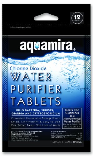Aquamira Water Purification Tablets (Pack Of 12)