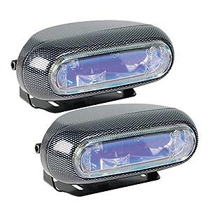 Hella H71010301 Optilux Model 1250 12V 55W H3 Fog Light Kit with Carbon Fiber Look and Blue Lens