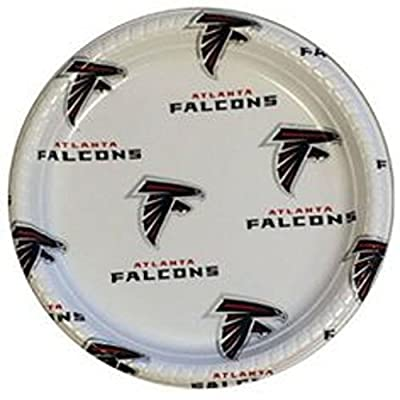 NFL Atlanta Falcons Disposable Plastic Plates (12 Pack)