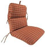 Jordan Manufacturing Outdoor Chair Cushion, Felton Chili