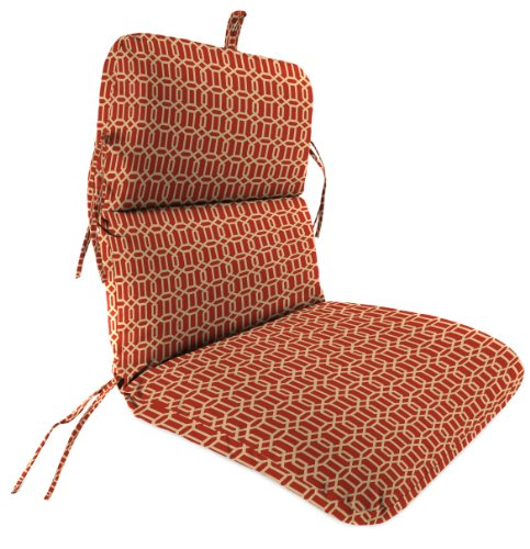 Jordan Manufacturing Outdoor Chair Cushion Felton Chili Huge Discount Shelt