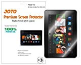 "JOTO Premium Screen Protector Film Anti Glare, Anti Fingerprint (Matte Finish) for New Kindle Fire HDX 8.9 inch Tablet (will only fit Kindle Fire HDX 8.9""), with Lifetime Replacement Warranty (3 Pack)"