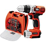 Black & Decker 12V Lithium Ion Cordless Drill w/Battery & BONUS 100pc Accessories & Case