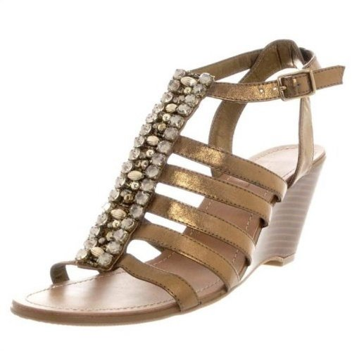 Bronze Wedge Sandals front-1029683