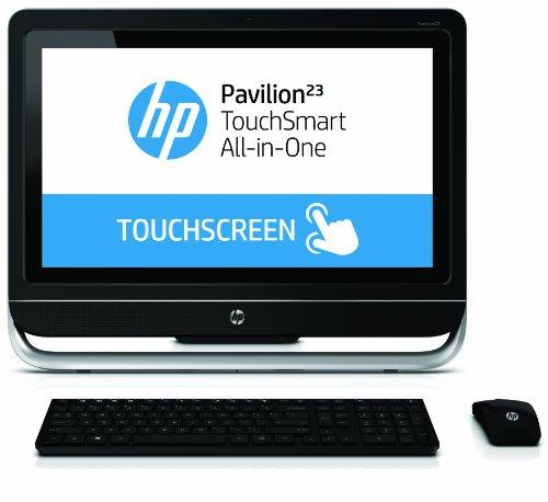 HP Pavilion 23-f250 23-Inch TouchSmart All-In-One Desktop (3.4 GHz AMD A4-5300 Processor, 4GB DDR3, 1TB HDD, Windows 8) Black/Silver