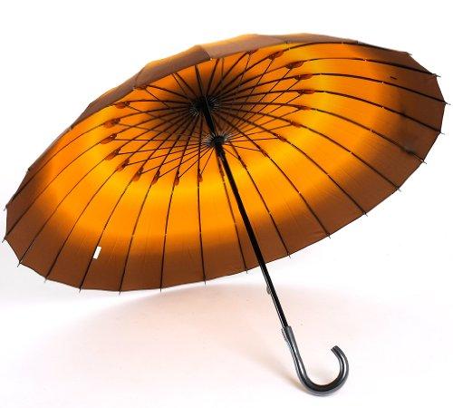 傘 レディース/和風 24本骨 軽量グラデーション 手開き雨傘