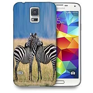 Snoogg Couple Zebra Designer Protective Back Case Cover For SAMSUNG GALAXY S5 MINI
