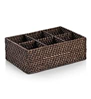 Dark Weave 6 Divider Basket