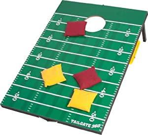 Tailgate 360 Football Bean Bag Toss and Corn Hole Toss Set- Portable with Score Counter and Carrying Handles