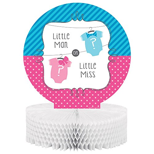 Bow or Bowtie? Centerpiece Honeycomb Little Man or Miss Gender Reveal Shower