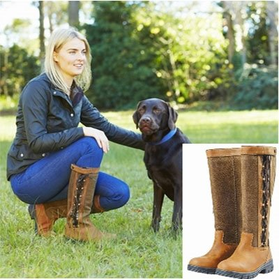 Dublin Harrowed Boots Brown/Chocolate Ladies 7