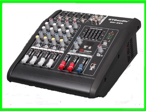 GTD Audio BM-224 500Watt 4 Channel Audio Powered Mixer