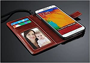 PU Synthetic leather Wallet case for Samsung Galaxy Note 3 N9000 (AT&T, T-Mobile, Sprint, Verizon)
