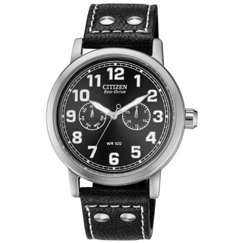 Citizen-Watch-Avion-Mens-Quartz-Watch-with-Black-Dial-Analogue-Display-and-Blac
