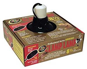 Zoo Med Deluxe Dimmable Clamp Lamp with 8.5-Inch Dome, Black