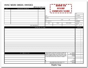 Free Hvac Work Order Forms Car Interior Design