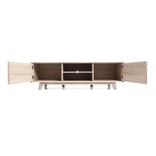 Premier housewares 2403066 loki meuble tv 2 placards for Meuble xbox one