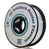 3D Solutech Natural Clear 1.75mm Flexible 3D Printer Filament 2.2 LBS (1.0KG) - 100% USA