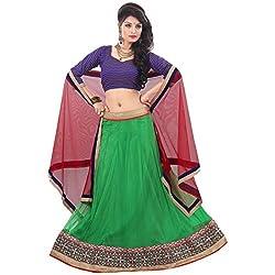 Aagaman Fashions Art Silk Lehenga Choli (TSSURG2005_Green)