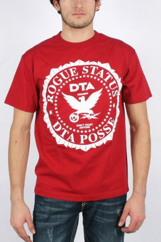 DTA / Rogue Status OG Crest Mens T-shirt in Cardinal/White, Size: Small, Color: Cardinal/White