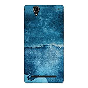 Stylish Blue Paint Print Back Case Cover for Sony Xperia T2