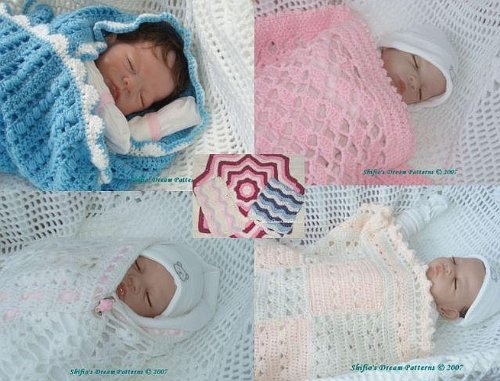 5 Baby Blanket Crochet Patterns 1 USA