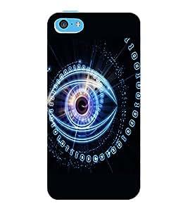 ColourCraft Digital Eye Design Back Case Cover for APPLE IPHONE 5C