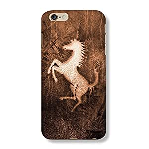 Hamee Designer Cover Thin Fit Crystal Clear Plastic Hard Back Case for iPhone 6 Plus / 6s Plus (Wooden Horse)